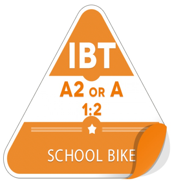 A2 or A 1:2 on School Bike